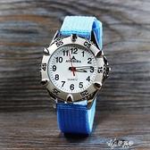 韓版帆布兒童男孩女孩手錶防水中學生戶外運動數字腕錶指針包 【快速出貨】