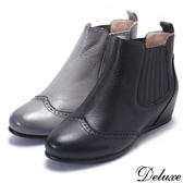 英倫牛津個性鬆緊帶短靴