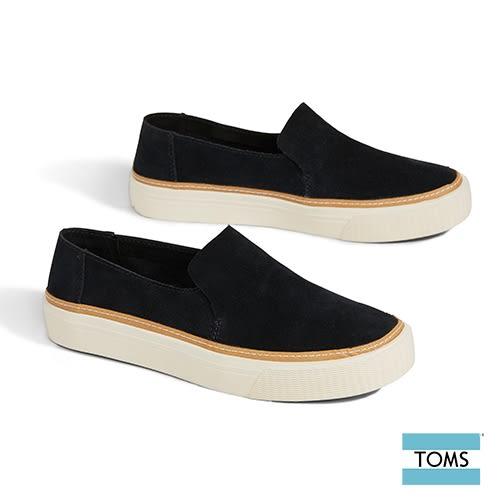 TOMS 簡約麂皮休閒鞋-女款(10012410 BLACK)