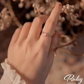 戒指 韓國直送‧愛心花朵水鑽指環戒指-Ruby s 露比午茶