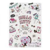 〔小禮堂〕Hello Kitty 日製亮片硬墊板《B5 白插圖》學童文具4901610 24499