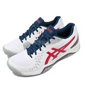 Asics 網球鞋 Gel-Challenger 12 男鞋 紅 白 藍 亞瑟士 【ACS】 1041A045117