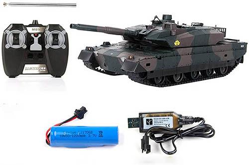 Ruuc RC【日本代購】陸軍坦克 仿真自衛隊戰車模型1:32 RTR無線電遙控戰車-10型