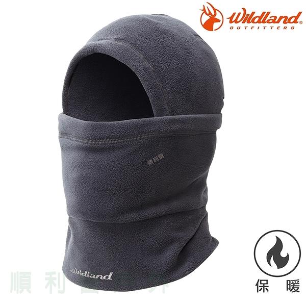 荒野WILDLAND 中性Pile保暖功能帽 W2002 鐵灰色 刷毛帽 保暖帽 脖圍 口罩 不易產生靜電 OUTDOOR NICE