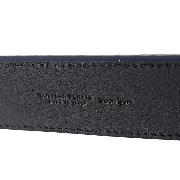 【BOTTEGA VENETA】牛皮編織皮帶 寬3.5cm(深藍) 271932 V4650 4013