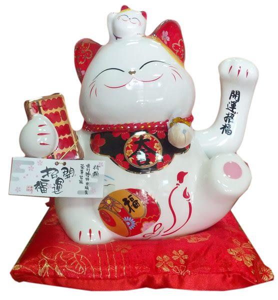 【日本貓樂堂批發中心】日本 樹脂 電動招財貓/福帳大吉搖手貓 擺手貓 擺飾 招財 3280