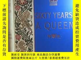 二手書博民逛書店英文古董書罕見Sixty Years a Queen.大開本 三面書口刷金 大量精美插圖 24*33cmY26