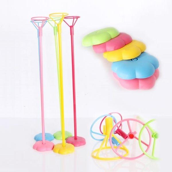 氣球架 氣球座(1套含棍子+托盤+底座) 氣球固定器 空飄架子 空飄座 會場布置【塔克】