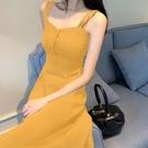 吊帶裙夏季法式仙女吊帶連身裙