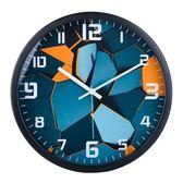 時尚客廳創意現代簡約大氣時鐘石英鐘鐘表掛表臥室靜音表個性掛鐘 芥末原創