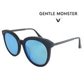 【GENTLE MONSTER 太陽眼鏡】LOVESOME C01-6MGUN時尚圓形大框墨鏡(#黑-槍色/水銀藍鏡面)
