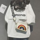 包包 夏天小包包新款韓國彩虹小方包港風女包休閒單肩包百搭斜背包 艾維朵
