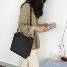 手提包 女士包包新款時尚韓版復古方包手提斜挎大容量簡約單肩子母包 快速出貨