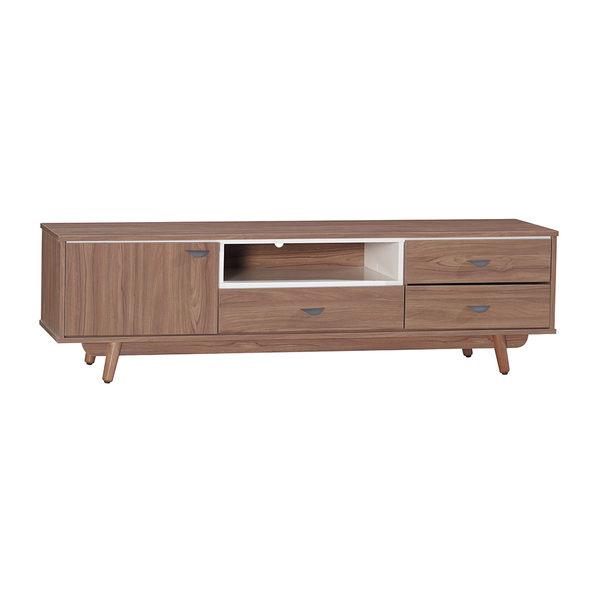 【森可家居】蘿拉6尺柚木電視櫃 7JX176-3 長櫃 木紋質感 日系無印 北歐風
