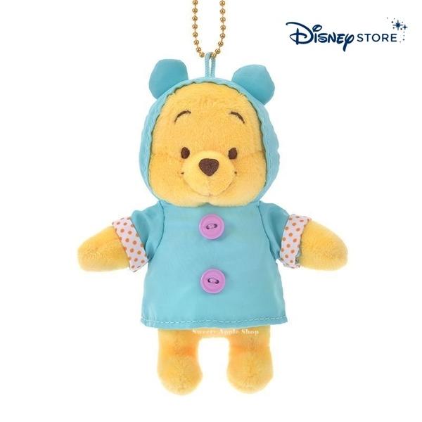 【SAS】日本限定 迪士尼商店 Disney Store 小熊維尼 雨衣版 珠鍊吊飾玩偶娃娃
