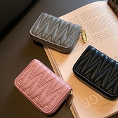 小卡包 風琴卡包女小香風純羊皮大容量卡夾多卡位小巧真皮駕照銀行卡片包 歐歐