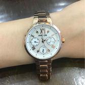 【萬年鐘錶】星辰 CITIZEN Wicca 三眼時尚設計女腕錶  珍珠貝x玫塊金  33mm  BH7-521-11