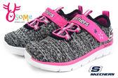SKECHERS小童運動鞋 輕量彈性舒適 寶寶跑步鞋 零碼出清 P8213#灰桃◆OSOME奧森鞋業