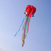 八爪章魚造型風箏(軟式風箏)(全配/附150米輪盤線)【888便利購】