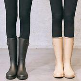 雨鞋 SLASHMODA簡約時尚雨鞋女成人韓國中筒水靴膠鞋防滑女士水鞋雨靴 全館免運