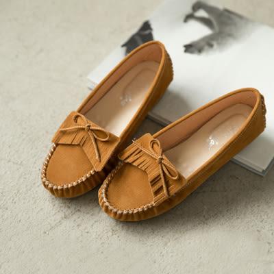 包鞋.流蘇豆豆底莫卡辛(粉、棕)-FM時尚美鞋-訂製款.newday