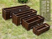 防腐木花箱陽台種菜盆戶外防腐木花箱長方形特大種植箱碳化實木花盆花槽定做MKS 維科特3C
