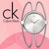 CK手錶專賣店 K2Z2S116 女錶 手環式 石英 強化耐磨玻璃鏡面 不鏽鋼錶殼 不鏽鋼鋼索錶帶