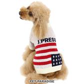 【PET PARADISE 寵物精品】JPRESS 國旗圓領毛衣/白 (3S/DSS/SS/DS) 寵物衣服