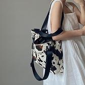 手提包鹿子 小眾設計奶牛紋大容量手提女包INS大熱單肩斜跨大包托特包【全館免運】