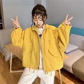 短風衣工裝外套女秋裝新款韓版小個子寬鬆百搭休閒學生上衣潮
