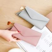 新款女士錢包女長款三折手機包錢夾軟皮流蘇學生韓版潮零錢包卡包