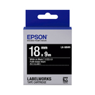 EPSON LK-5BWV C53S655414 黑底系列黑底白字標籤帶 寬度18mm