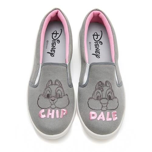 Disney 畫夢日記 奇奇蒂蒂休閒懶人鞋-灰