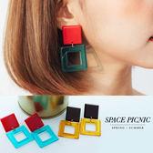 耳環 Space Picnic|現+預.幾何撞色設計耳環【C18072000】