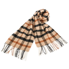 DAKS經典大格紋混色羊毛圍巾(駝色)239336