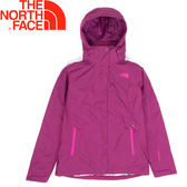 【The North Face 美國 女款 Gore-Tex羽絨兩件式外套《玫紫》】CUF1/防水透氣/三合一/鵝絨★滿額送