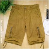 【大盤大】男 全新 五分褲 XL號 素面 純棉短褲 夏季 素色 單色 休閒褲 運動褲 工作褲 口袋 禮物