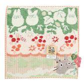 日本龍貓 TOTORO紅色葡萄園純綿小方巾989257