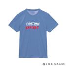 【GIORDANO】男裝英文標語印花T恤 - 89 賽船藍
