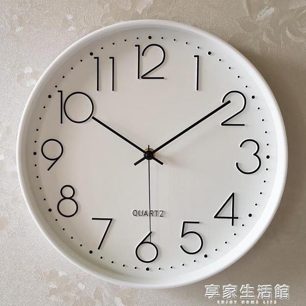 鐘錶掛鐘客廳現代簡約大氣創意時尚個性潮流靜音家用錶掛墻石英鐘-享家