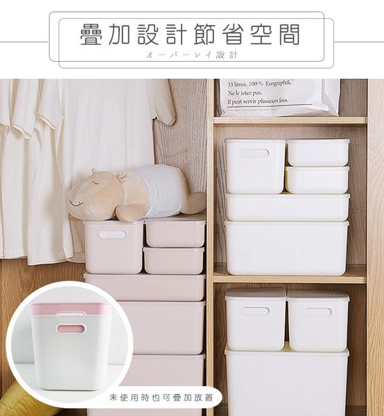日系疊加附蓋收納盒 大款【HNR9B3】置物盒 整理盒 衣物 玩具 收納 儲物盒 分類收納 #捕夢網