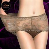 3條裝 內褲女 性感透明蕾絲 高腰大碼胖MM女士三角褲頭