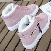 雪靴 棉鞋女冬季2019新款韓版百搭加絨短靴保暖雪地靴短筒冬天女鞋子潮