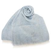 Vivienne Westwood 經典LOGO亞麻圍巾(淺藍色)910527-1