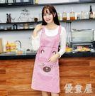 時尚可愛薄款防水防油廚房衣服罩衣  hh1060『優童屋』