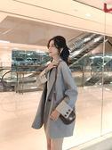 西裝外套 韓版灰色西裝外套女中長款chic休閒寬鬆小西服春秋裝 唯伊時尚
