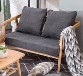 沙發小戶型北歐現代簡約雙人沙發簡易布藝沙發實木單人沙發可拆洗igo 智聯世界