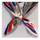 絲巾 歐美海軍風真絲小方巾女百搭裝飾絲巾春秋季100%桑蠶絲圍巾領 全館免運