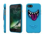【唐吉】SwitchEasy Monster iPhone 7 Plus, 3D笑臉怪獸保護殼, 藍皮