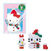 【日本KAWADA河田】Nanoblock迷你積木-Hello Kitty凱蒂貓 雪人 NBGC-002